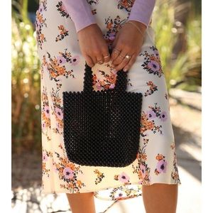 Beaded Mini Tote Bag